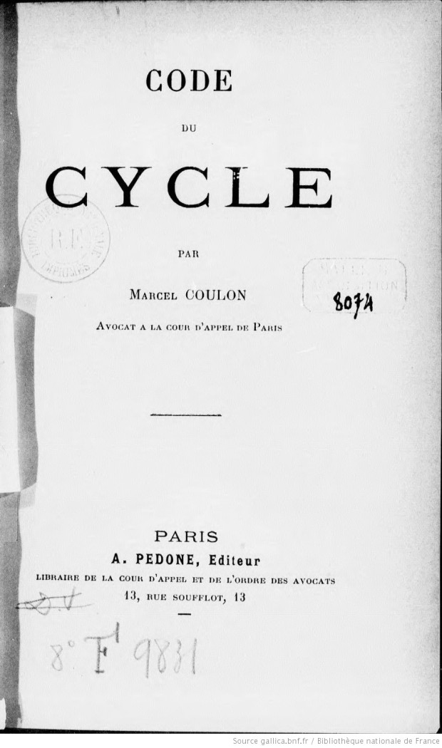 Code_du_cycle_par_Marcel_[...]Coulon_Marcel_bpt6k12690233
