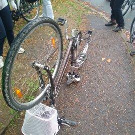 ~tape 1 : retourner le vélo