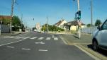 Avenue de Verdun, piste séparée, nous tournons à droite pour prendre la rue J.Jaurès. Tout droit c'est direction la gare ou Bannier.