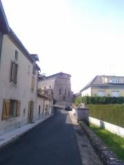 L'arrière de l'église forte