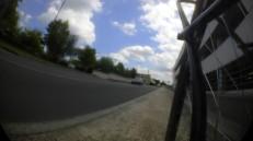 La bande cyclable rue Labonne, le long du parc