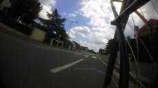 La bande cyclable, passée le parc (libre de véhicule, pour une fois)
