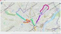 La carte d'une gare à l'autre